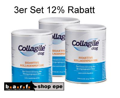 3erSET Collagile® dog 3 Dosen a225g