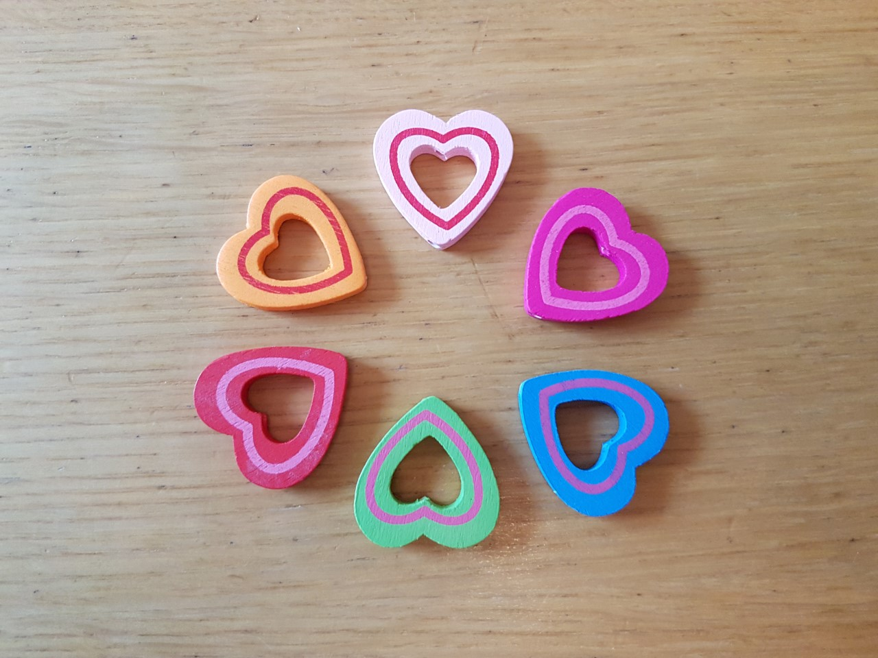 Wooden Shaped Heart With Whole