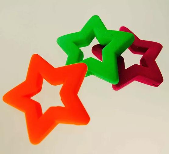 Neon Rubber Stars