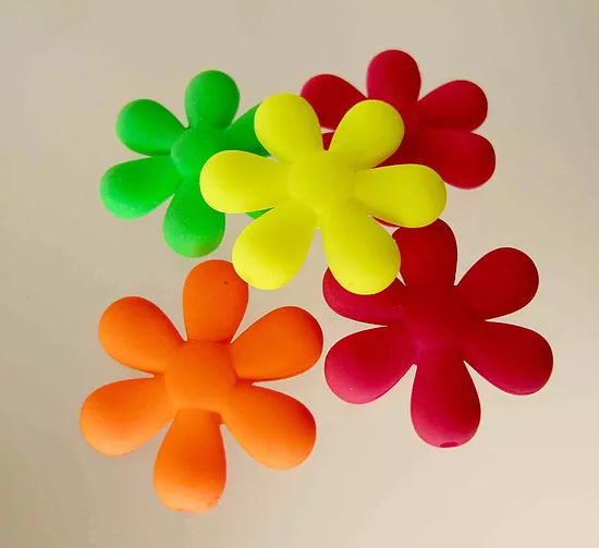 Neon Rubber Flowers