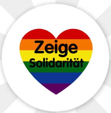 """Button """" Zeige Solidarität """" Magnetisch"""