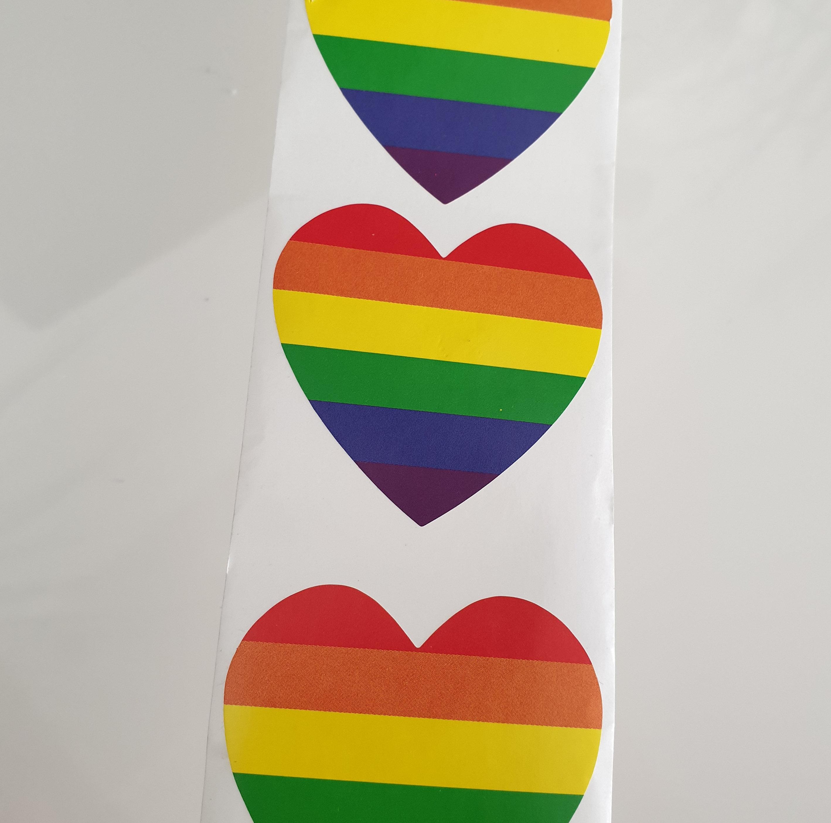 Rainbow Herz Aufkleber
