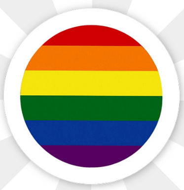Button Rainbow Flagge Magnetisch