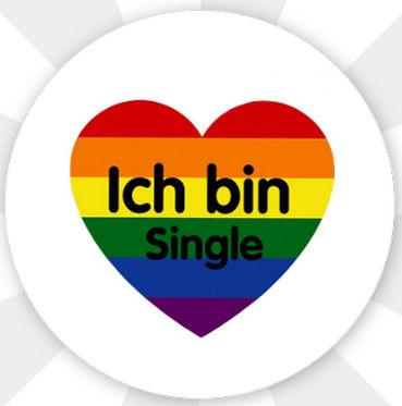 """Button """"Ich bin Single"""" Magnetisch"""