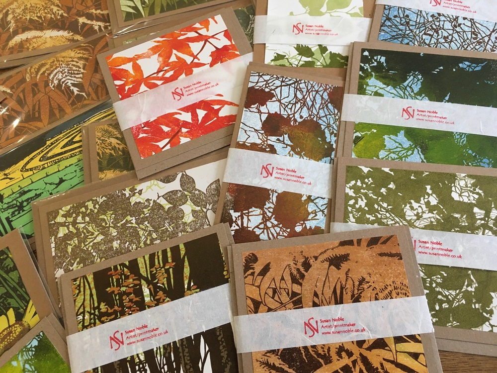 Mix pack of lino-print cards (ten cards)