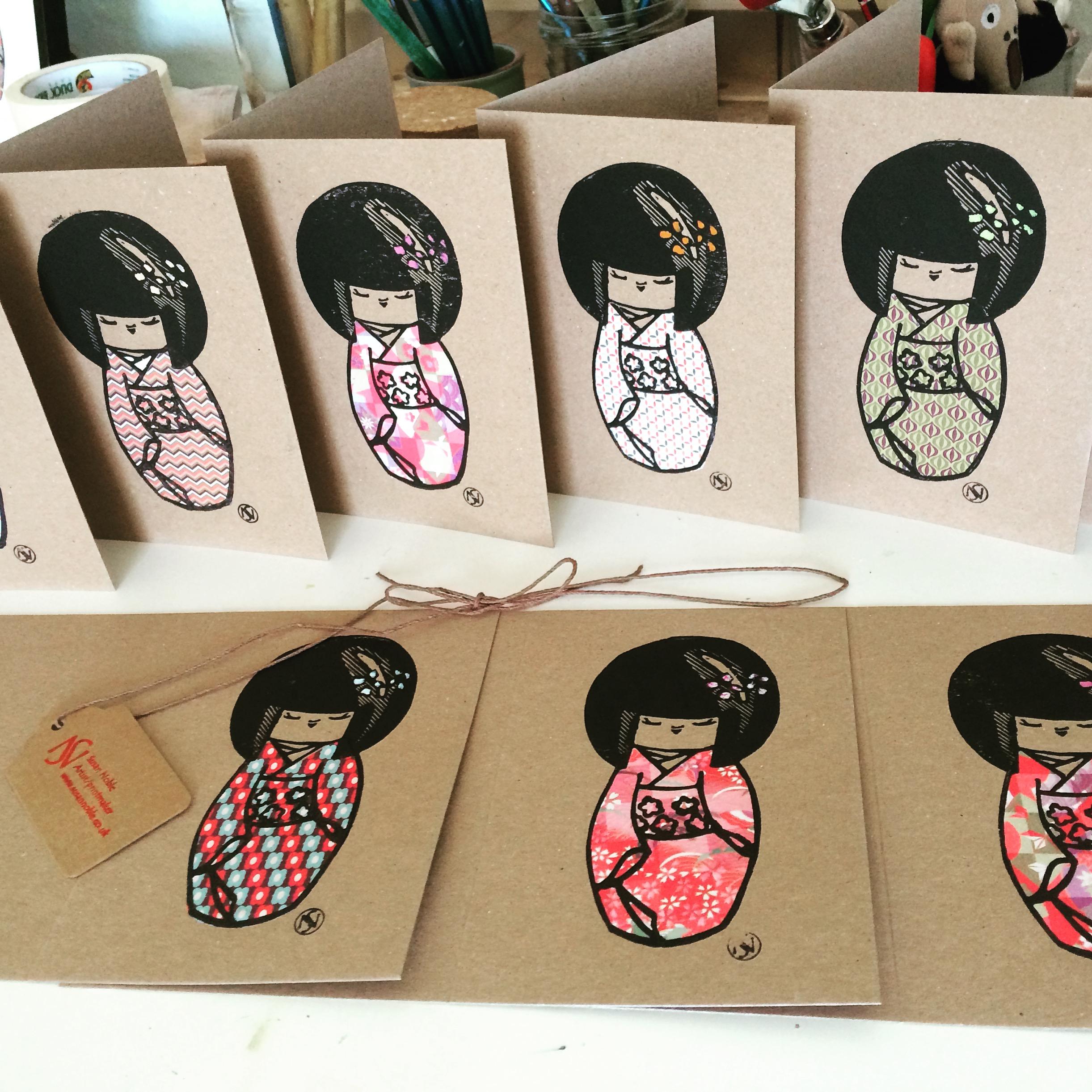 Kokeshi Doll cards