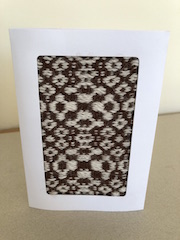 Small Brown and White Alpaca Greeting Card