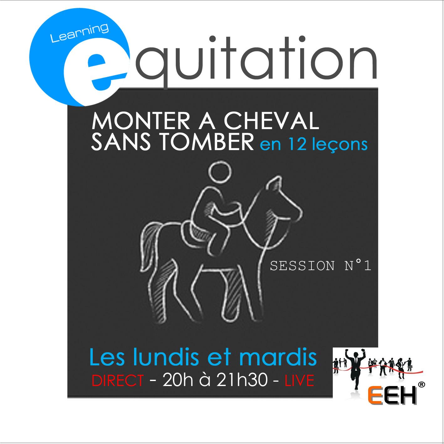 SESSION N°1 - 12 LEÇONS D'EQUITATION - MONTER A CHEVAL SANS TOMBER