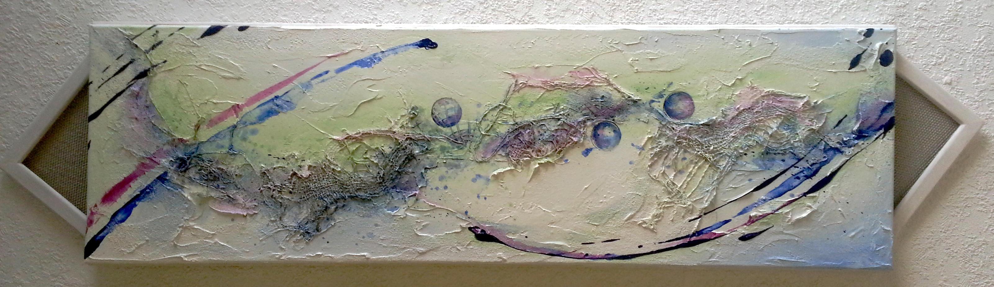 Gemälde Jet-Stream blue