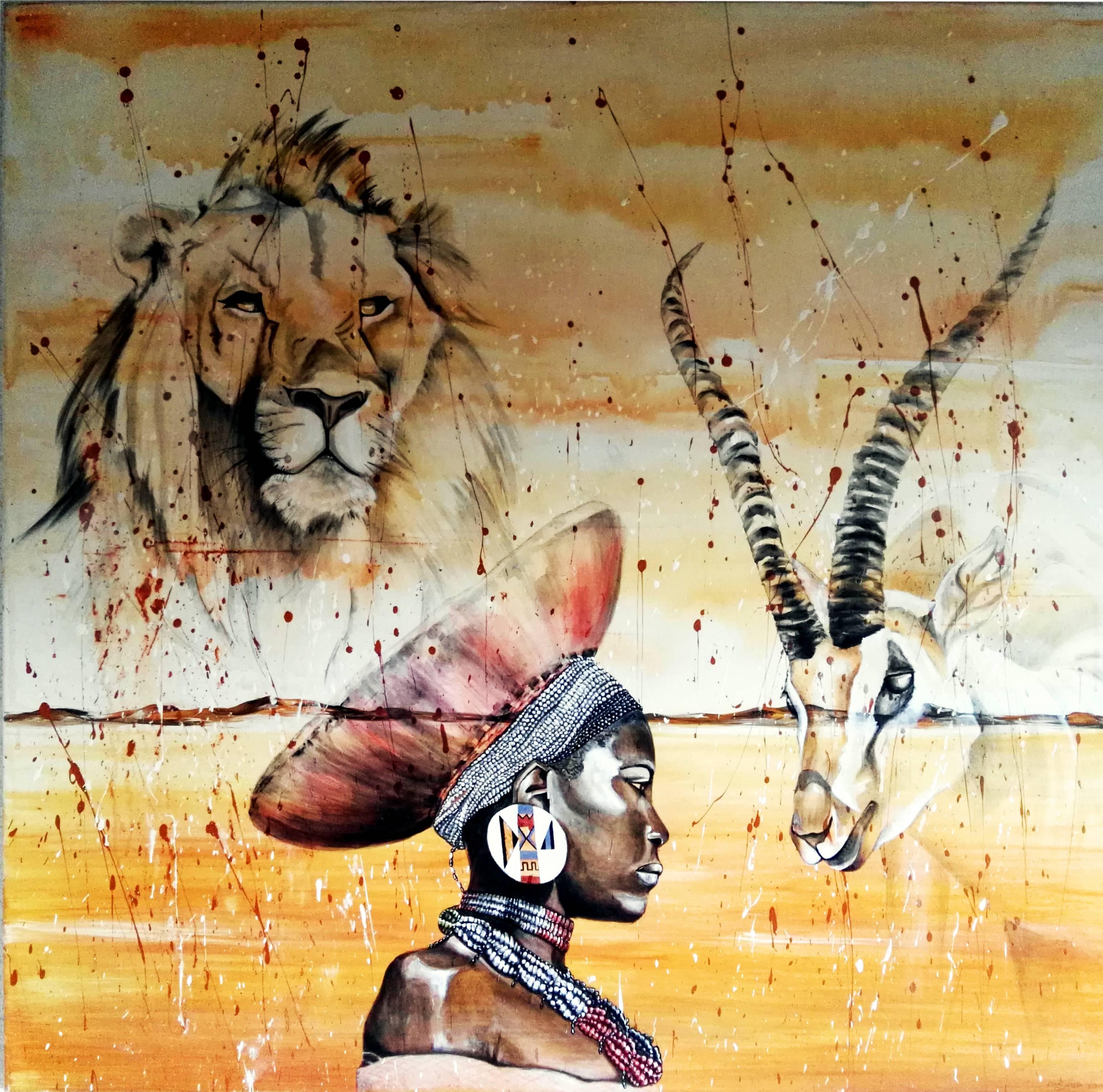 Gemälde Zulu