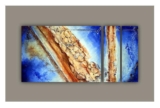 Gemälde Steine die im Wege liegen