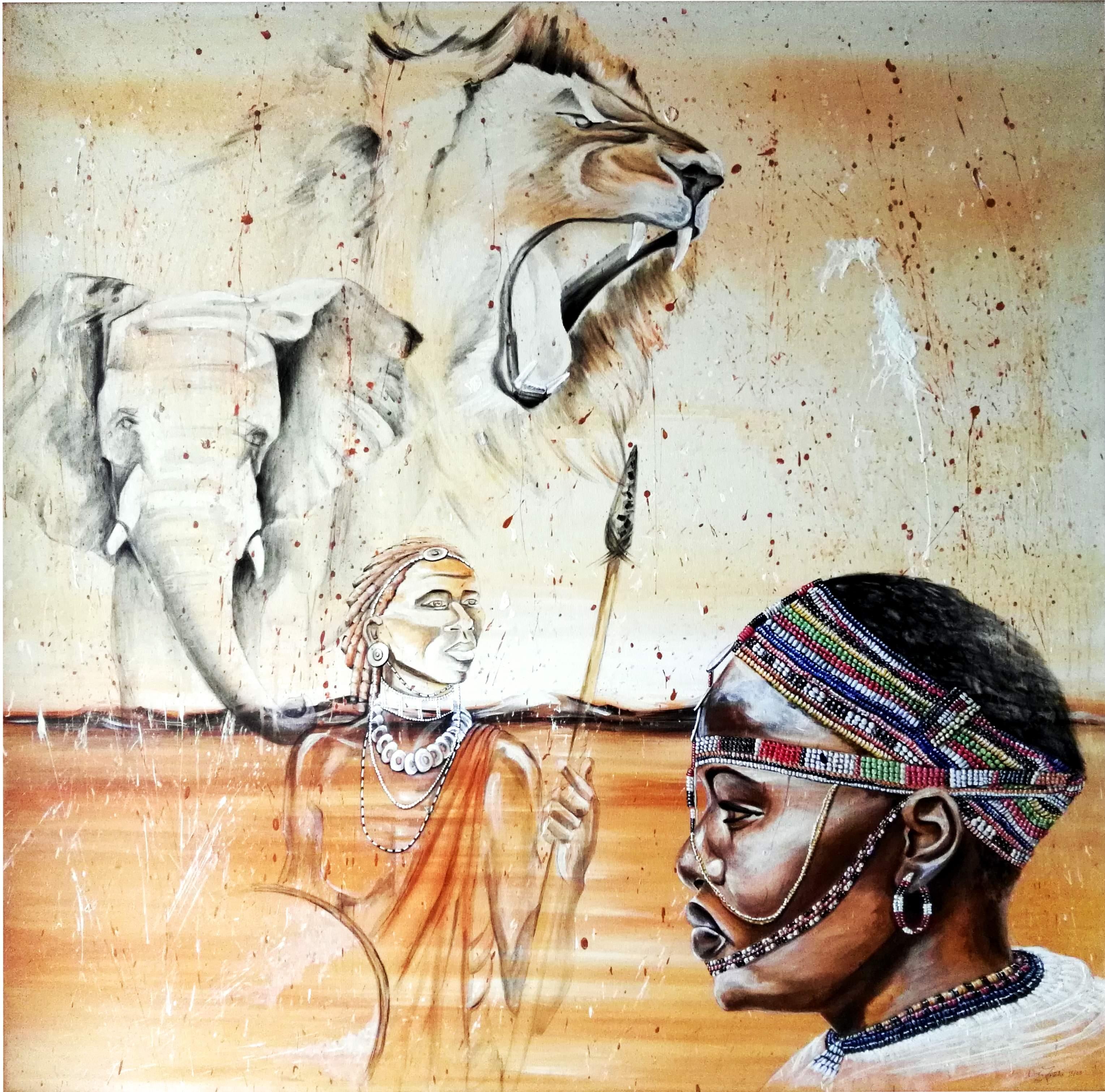 Gemälde Massai