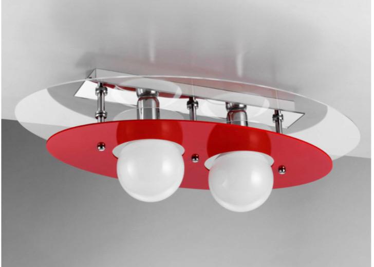 Plafoniere Con Lampadina A Vista : Shape lampadari in plexiglass stile moderno di alta qualità e