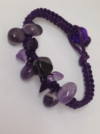 February Birthstone, Crystal Bracelet