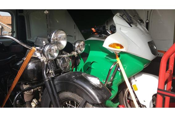 Harley und BMW Motorräder
