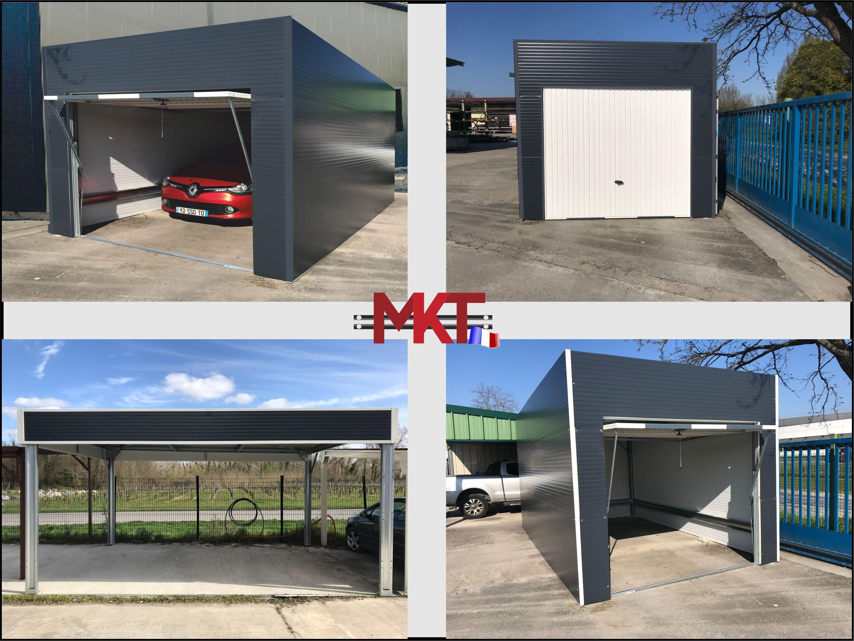 Abri métallique toit plat