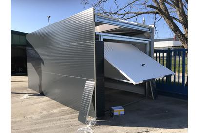 Garage métallique toit plat