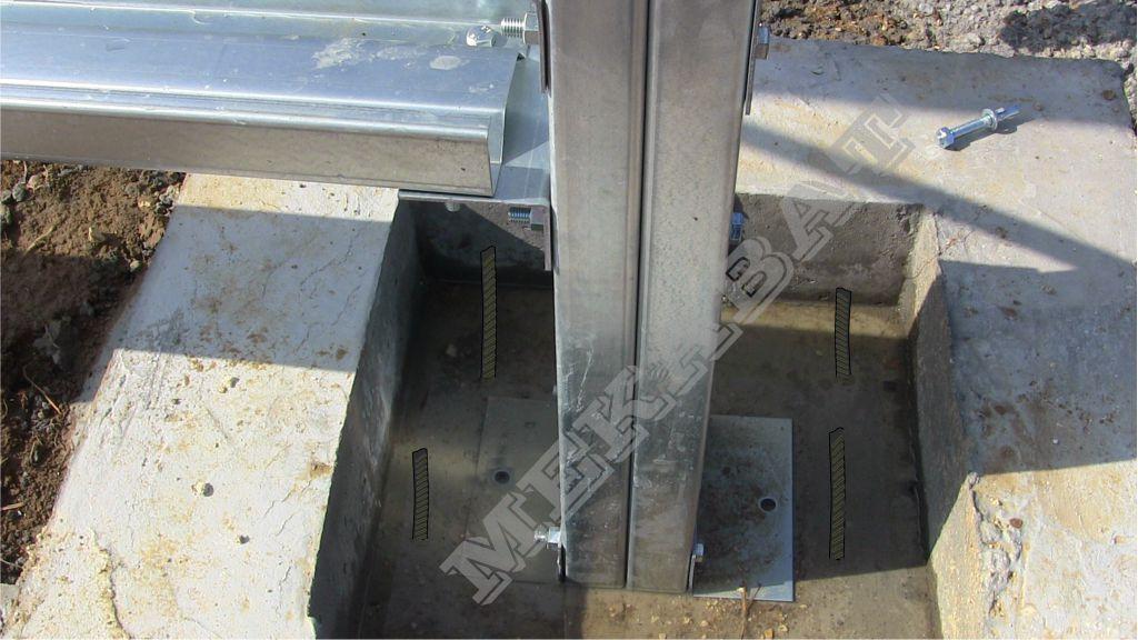 Bâtiment métallique fondations