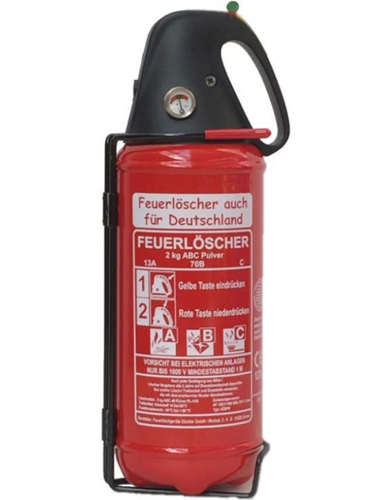 2 kg KfZ-ABC-Pulver-Dauerdruck-Feuerlöscher DIN EN 3