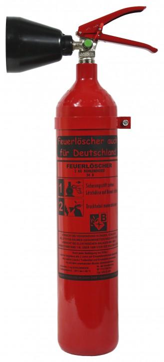 2 kg Kohlendioxid-Feuerlöscher DIN EN 3 , GS,  SP 17/13