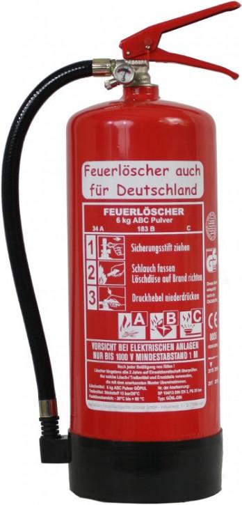 6 kg ABC-Pulver-Dauerdruck-Feuerlöscher DIN EN 3