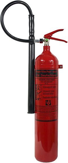 5 kg Kohlendioxid-Feuerlöscher DIN EN 3 , GS, SP 18/13