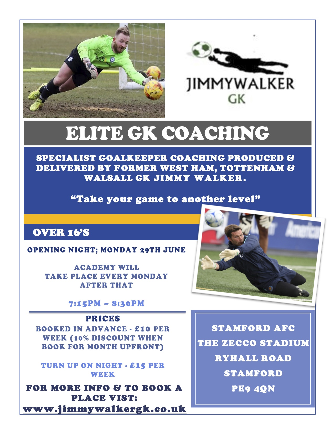 Stamford Elite Coaching Weekly Session