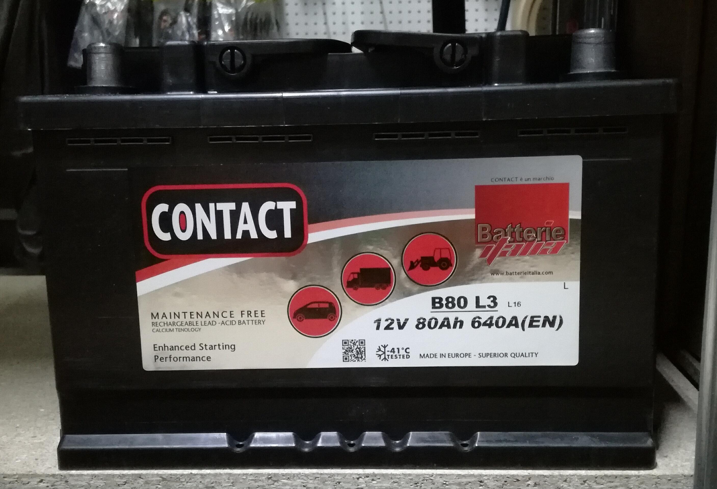 """BATTERIA 12 V 80 AH """"CONTACT"""""""