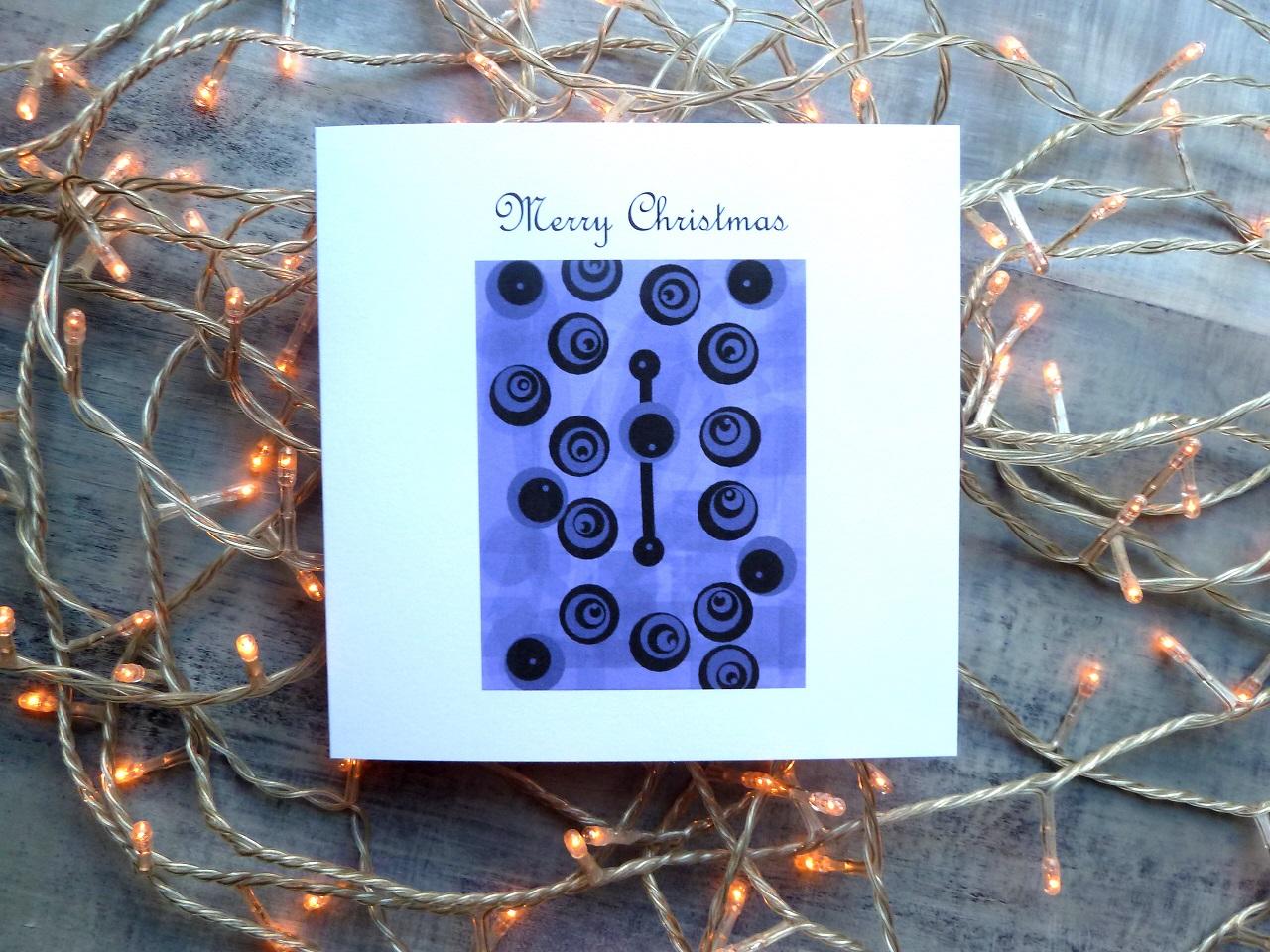Christmas Card | Christmas Baubles | Purple