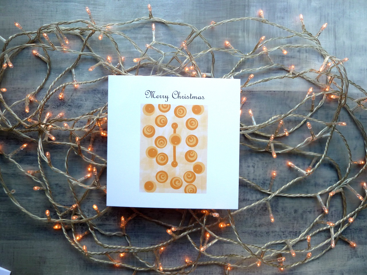 Christmas Card | Christmas Baubles | Gold