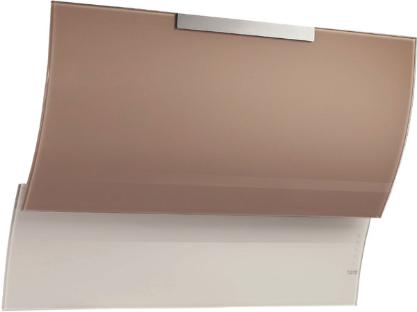 BEST Fluttua Wandhaube, Glanz Edelstahl, Glas lackiert, 80 cm