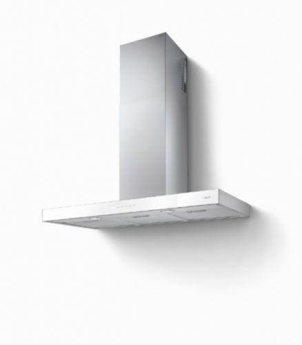 BEST Zeta 900 Wandhaube, Weiß, Edelstahl + Glas, 90 cm