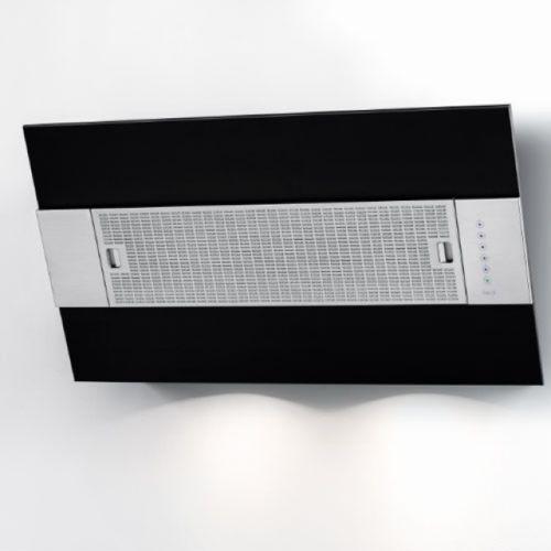 BEST Iris 550 Wandhaube, Edelstahl + Lackiert, schwarz, 55 cm
