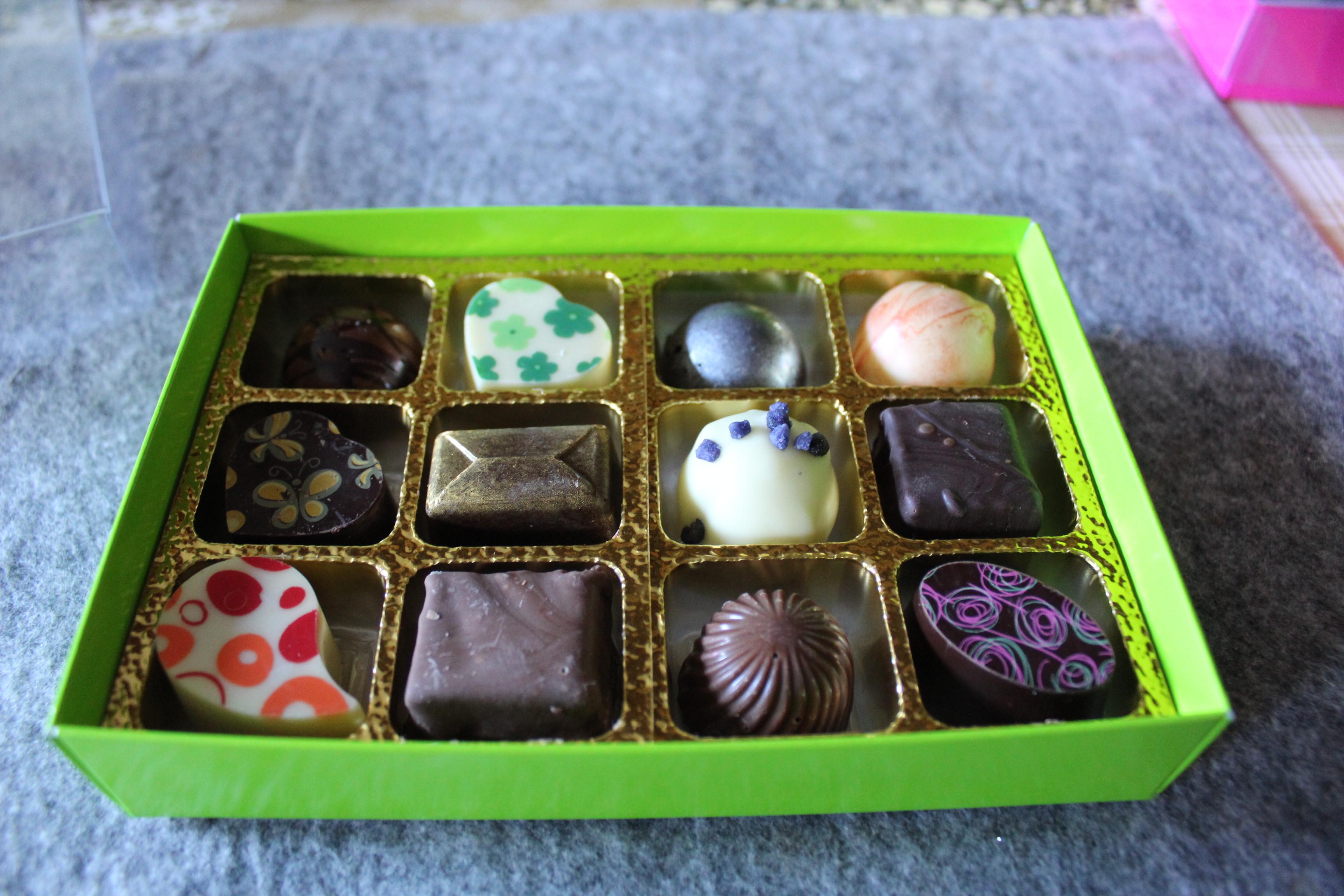 Box of 12 mixed chocolates