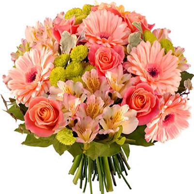 Bouquet pastel de fleurs