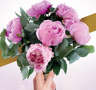 Bouquet Pivoines roses