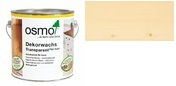 OSMO Dekorwachs Transparent Farblos 3101 auf Fichte