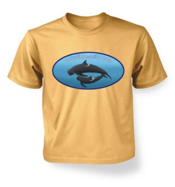 Pilot Whales Tee - Sand Yellow