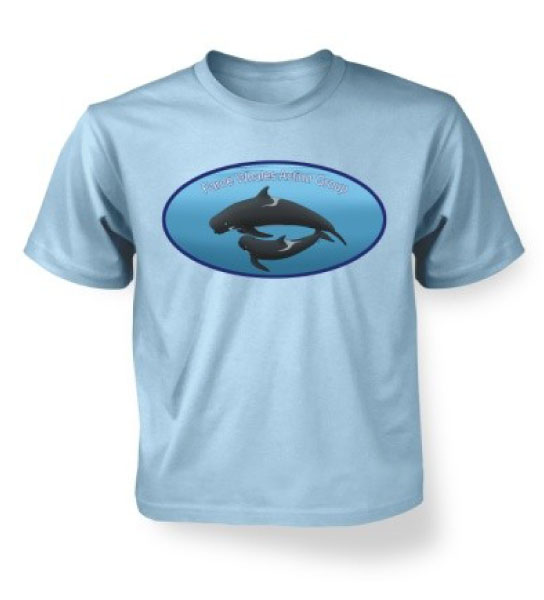 Pilot Whales Tee - Ocean Blue