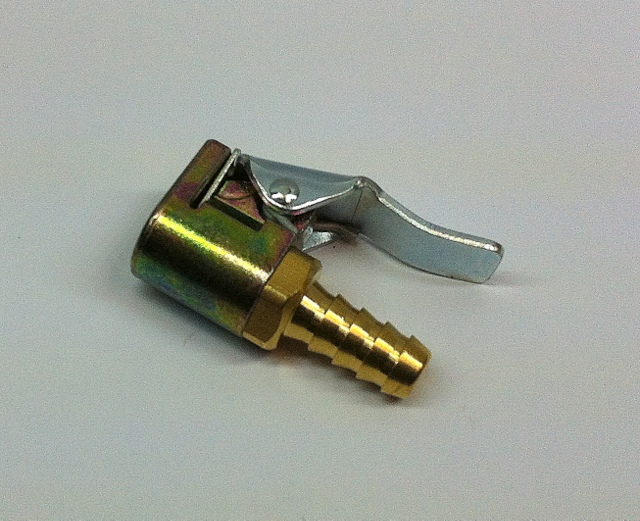 BRASS SINGLE CLIP ON CONNECTOR 7mm