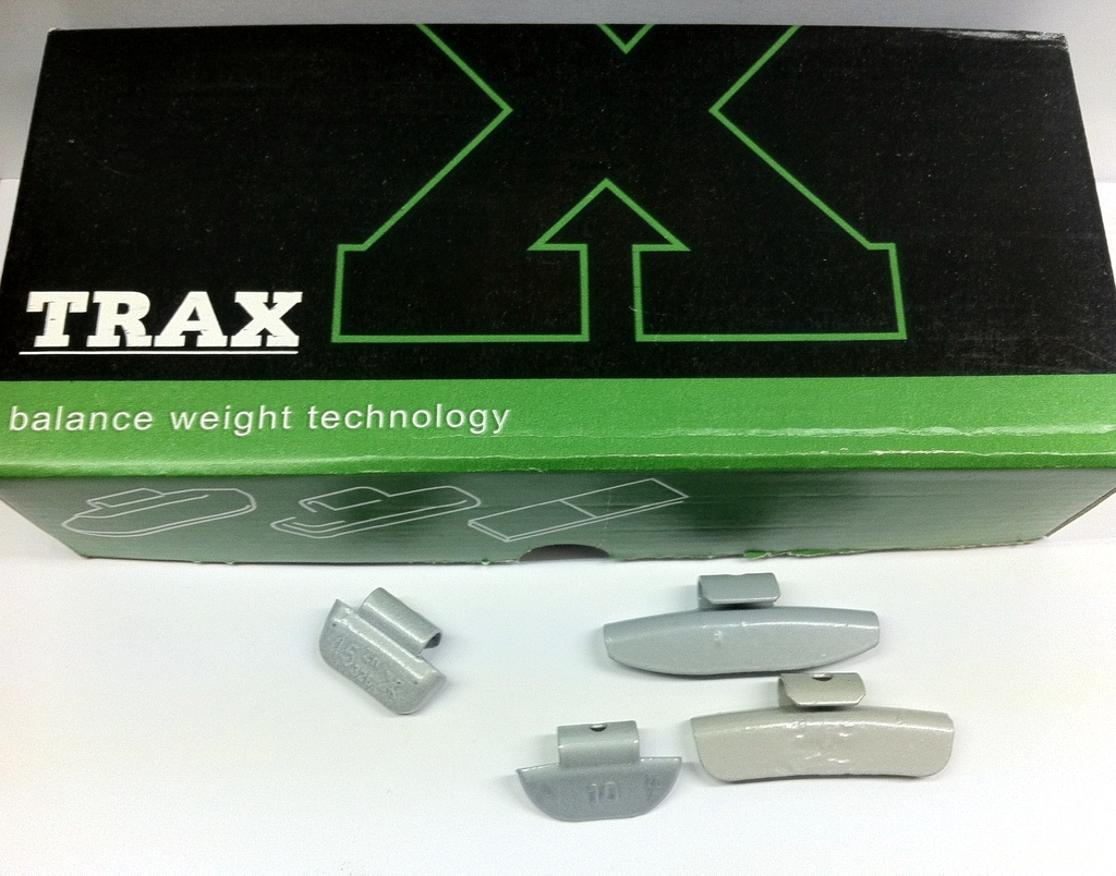 100 ASSORTED ALLOY COATED WHEEL WEIGHTS