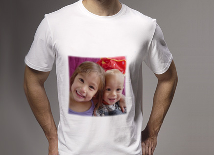 Tee shirt blanc avec personnalisation