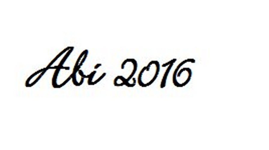 Heckscheiben-Aufkleber ABI 2016