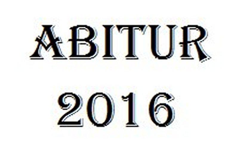 Heckscheiben-Aufkleber Abitur 2016