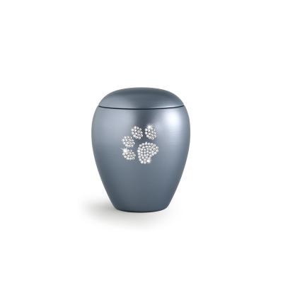 Urne Crystal Ovale Gris motif Patte