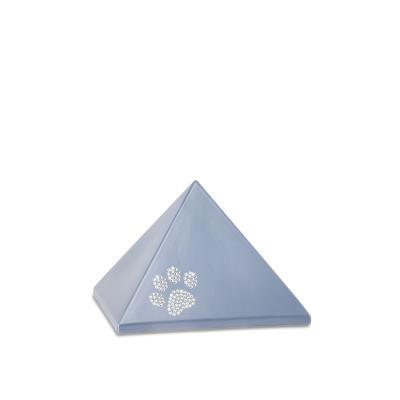Urne Crystal Pyramide Gris motif Patte