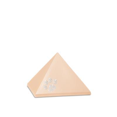 Urne Crystal Pyramide Abricot motif Patte