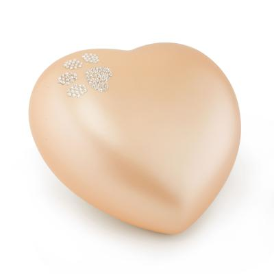 Urne Crystal Coeur Abricot motif Patte