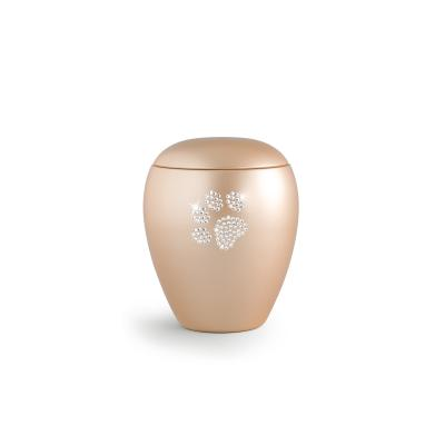 Urne Crystal Ovale Abricot motif Patte
