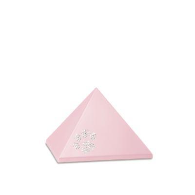 Urne Crystal Pyramide Rose motif Patte